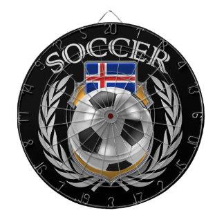 Iceland Soccer 2016 Fan Gear Dartboard With Darts