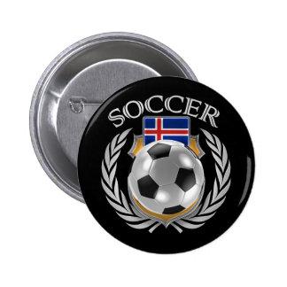 Iceland Soccer 2016 Fan Gear Pinback Button