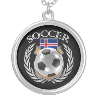 Iceland Soccer 2016 Fan Gear Silver Plated Necklace