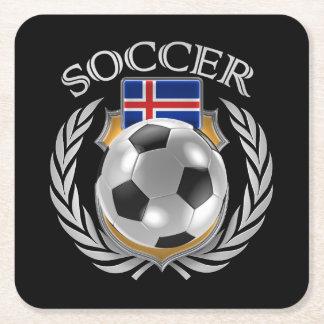 Iceland Soccer 2016 Fan Gear Square Paper Coaster