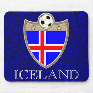 Iceland Soccer Mouse Pad