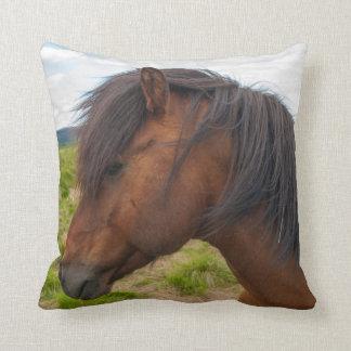 Iceland. South Region. Selfoss. Icelandic horse 1 Throw Pillow