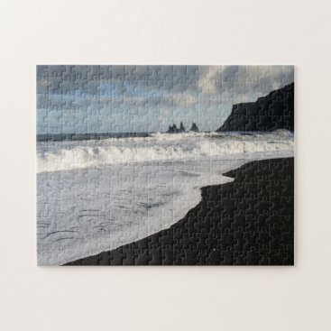 Beach Themed Iceland. South. Vik i Myrdal Jigsaw Puzzle