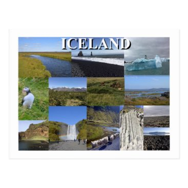 Beach Themed Iceland Summer Landscapes Postcard