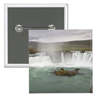 Iceland. View of Godafoss Falls on the Button