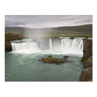 Iceland. View of Godafoss Falls on the Postcard
