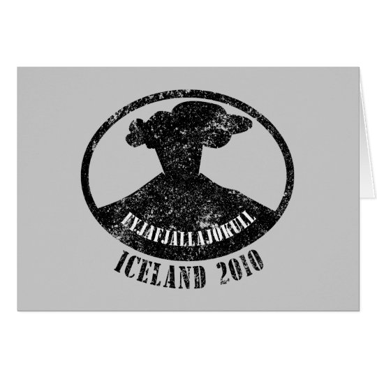 Iceland Volcano 2010 Card