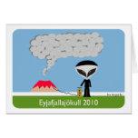 Iceland Volcano 2010 Greeting Card