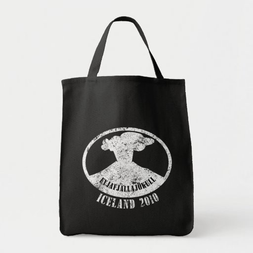Iceland Volcano 2010 Grocery Tote Bag