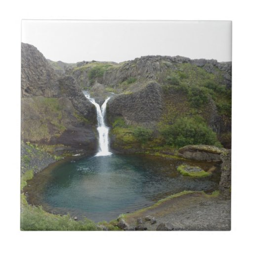 Iceland water fall ceramic tile