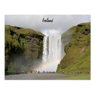 Iceland waterfall Postcard