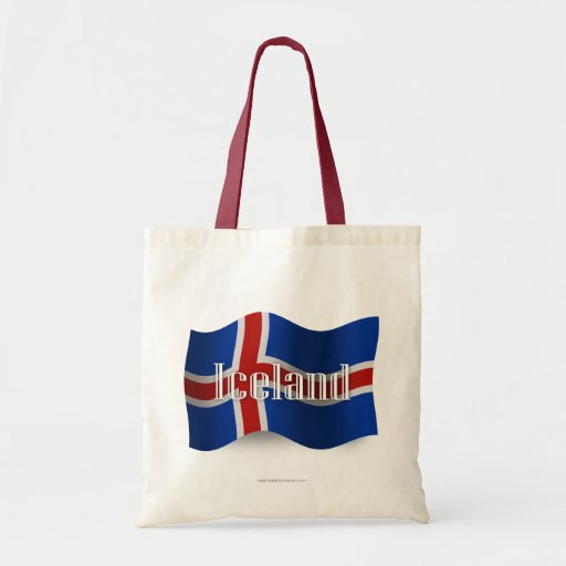 Iceland Waving Flag Canvas Bags