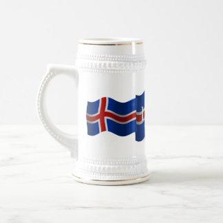 Iceland Waving Flag Beer Stein