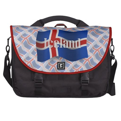 Iceland Waving Flag Bags For Laptop