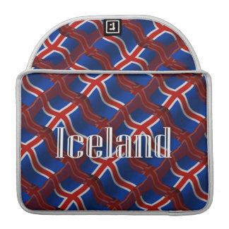 Iceland Waving Flag MacBook Pro Sleeves