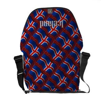 Iceland Waving Flag Messenger Bag