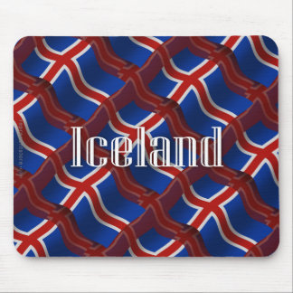 Iceland Waving Flag Mouse Pad