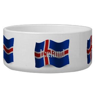 Iceland Waving Flag Pet Bowls