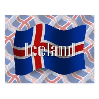 Iceland Waving Flag Postcard