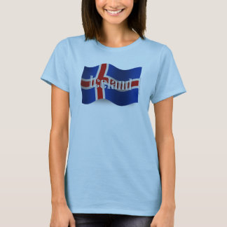 Iceland Waving Flag T-Shirt