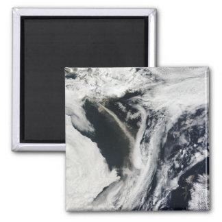 Iceland�s Eyjafjallaj�kull volcano 2 Inch Square Magnet