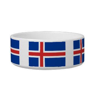 Icelander Flag Cat Bowls