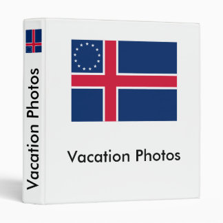 Icelandic-American Flag Binder