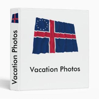 Icelandic-American Waving Flag 3 Ring Binders