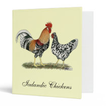 Icelandic Chickens 3 Ring Binder