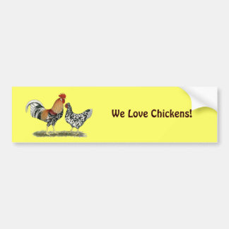 Icelandic Chickens Car Bumper Sticker