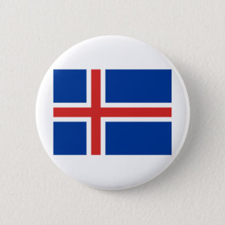 Icelandic flag button