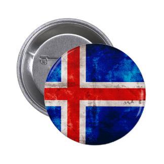 Icelandic Flag 2 Inch Round Button