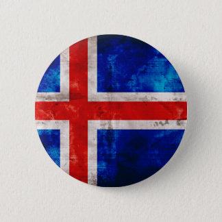 Icelandic Flag Pinback Button