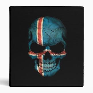 Icelandic Flag Skull on Black Binders