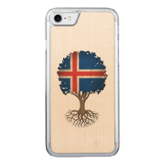 Icelandic Flag Tree of Life Carved iPhone 7 Case