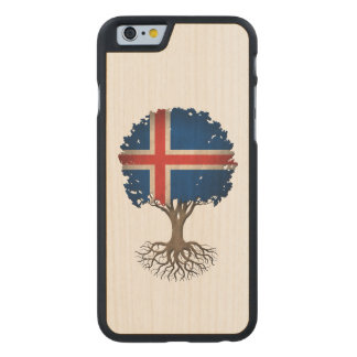 Icelandic Flag Tree of Life Customizable Carved® Maple iPhone 6 Slim Case