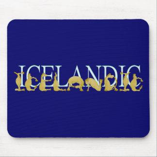 Icelandic flexible alphabet pony mouse pad