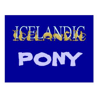 Icelandic flexible alphabet pony postcard