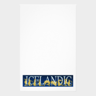 Icelandic flexible alphabet pony stationery