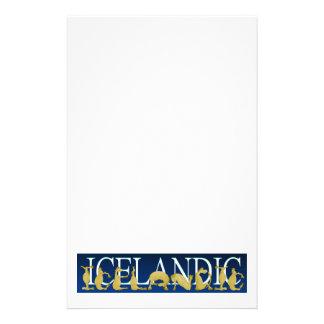 Icelandic flexible alphabet pony stationery
