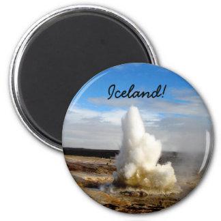 Icelandic Geyser 2 Inch Round Magnet