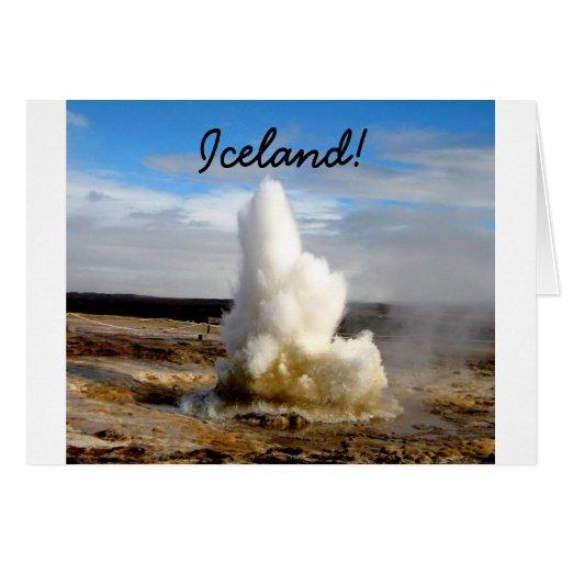 Icelandic Geyser Card