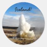 Icelandic Geyser Round Sticker