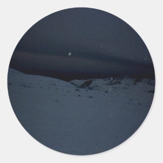 Icelandic Glacier Classic Round Sticker