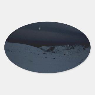Icelandic Glacier Oval Sticker
