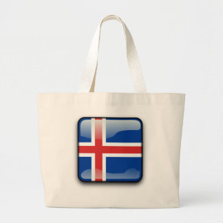 Icelandic glossy flag large tote bag