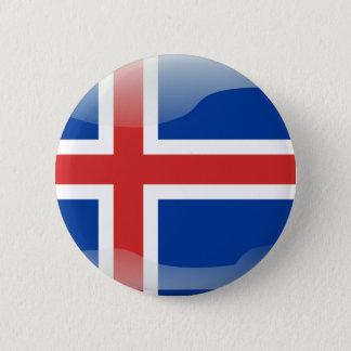 Icelandic glossy flag pinback button