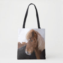 Icelandic Horse Among the Herd Tote Bag
