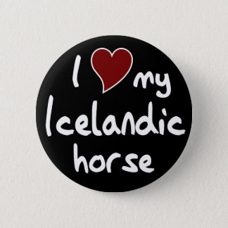 Icelandic horse button