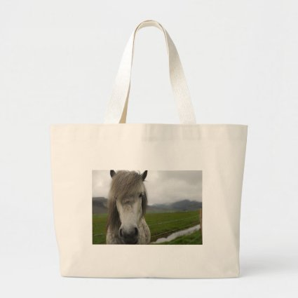 Icelandic Horse Canvas Bags